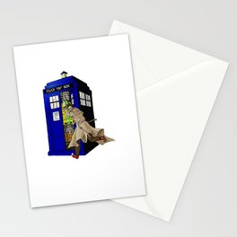 Blue tardis 02 Stationery Cards