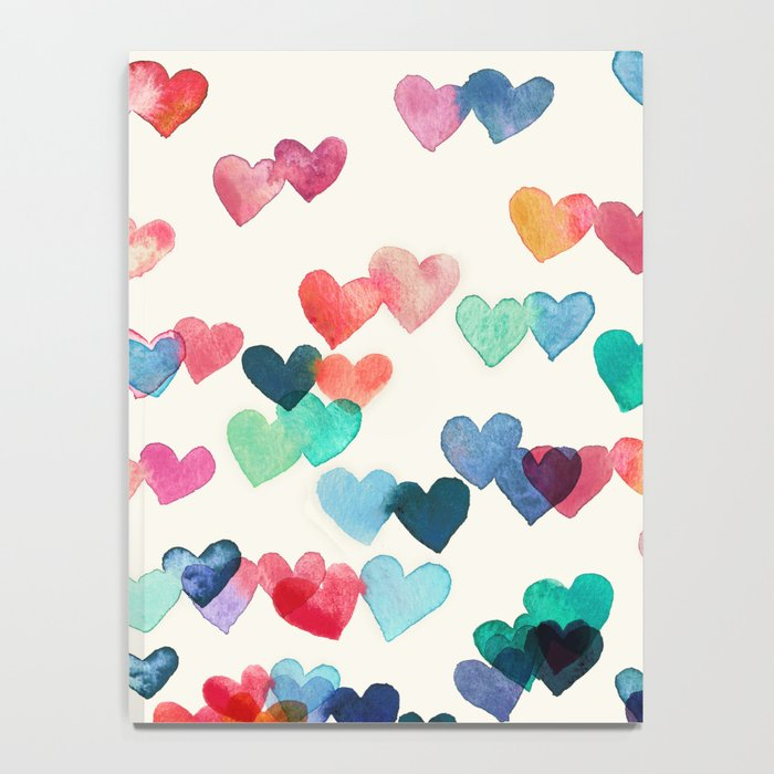 Heart Connections - watercolor painting Notebook