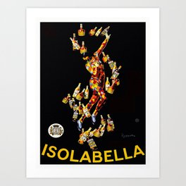 Vintage poster - Isolabella Art Print