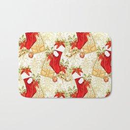 Christmas stockings Bath Mat