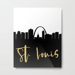ST LOUIS MISSOURI DESIGNER SILHOUETTE SKYLINE ART Metal Print