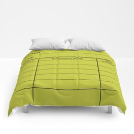 LiBRARY BOOK CARD (lime) Comforters