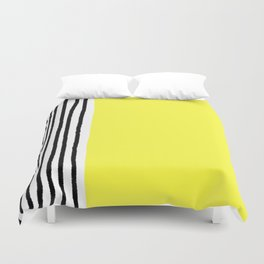 Stripes & Rays Of Sunshine Yellow Duvet Cover