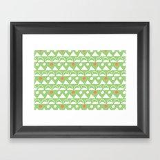 Mod Triangles Framed Art Print