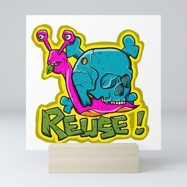 Recycle Reuse Snail Mini Art Print