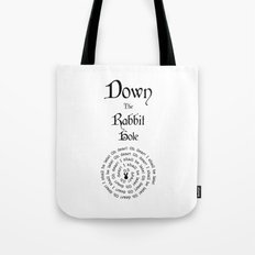 Alice In Wonderland Down The Rabbit Hole Tote Bag