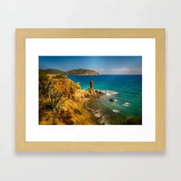 Small but picturesque abandoned beach in Ibiza Framed Art Print