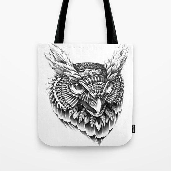 Ornate Owl Head Tote Bag