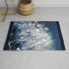 New Year's Blue Champagne Rug
