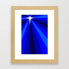 Blue Christmas Star Framed Art Print