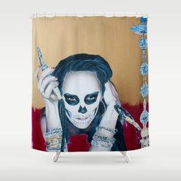 Catrina Sugar Skull, no.2 Shower Curtain
