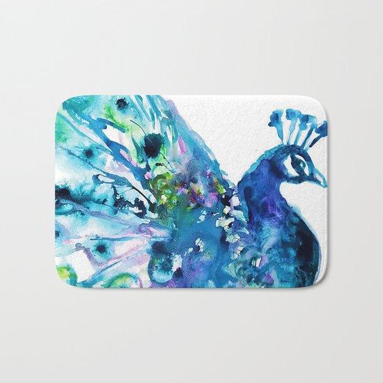 Pretty Peacock Bath Mat