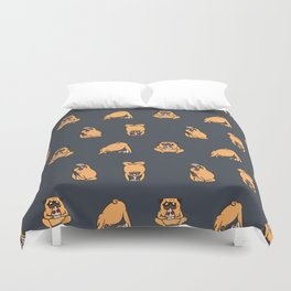 Pizza Yoga with The Pug Duvet Cover