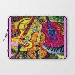 Rose Color Guitar String Instruments Laptop Sleeve
