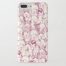 just alpacas cherry pearl iPhone 7 Plus Slim Case