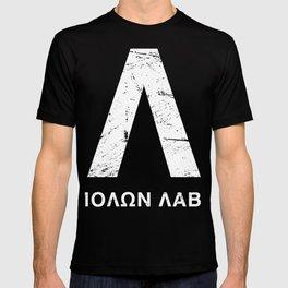 Distressed Spartan Lambda - Molon Labe T-shirt