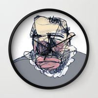 clown Wall Clocks featuring clown by jenapaul