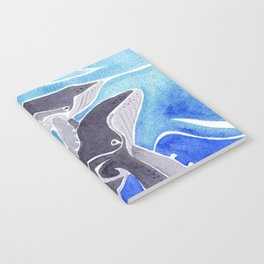 Polynesian humpback whale and calf Notebook