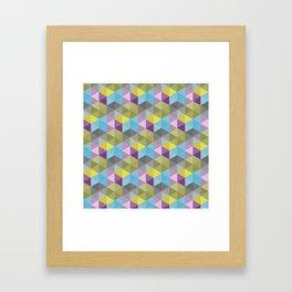 Tangrams Pattern Framed Art Print