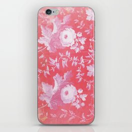 Patterned Silk Rose iPhone Skin