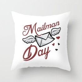 Postman Job Post Mail Mailman Day Delivery Gift Throw Pillow