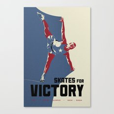 Skates for Victory Canvas Print