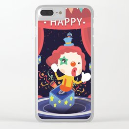 Happy Clown Fool Gift Clear iPhone Case