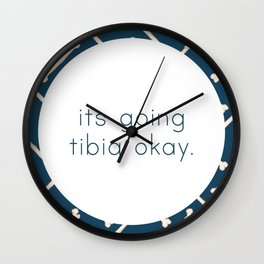 Its Going Tibia Okay - Dem Bones in Blue Wall Clock