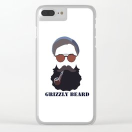 Grizzly beard Clear iPhone Case