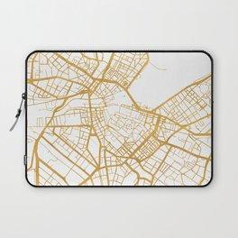 GENEVA SWITZERLAND CITY STREET MAP ART Laptop Sleeve