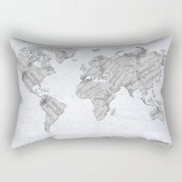 world map music vintage 2 Rectangular Pillow