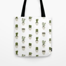 Cacti & Succulents - White Tote Bag