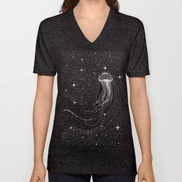 starry jellyfish Unisex V-Neck
