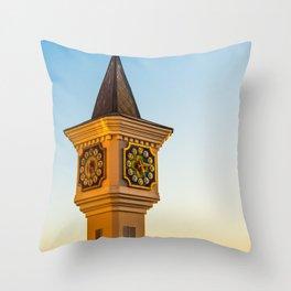 fabulous clock tower Throw Pillow