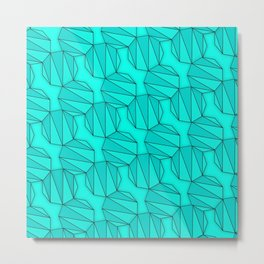Enneagons - Teal Metal Print