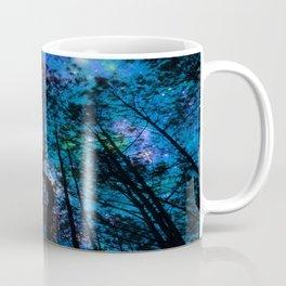 Black Trees Teal Purple Space Coffee Mug