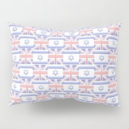 Mix of flag : Israel and uk 2 with color gradient Pillow Sham