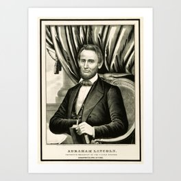 Abraham Lincoln - Sixteenth President of the United States Art Print