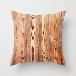 Wood texture. Wood Grain. Natural dark wooden planks. Throw Pillow