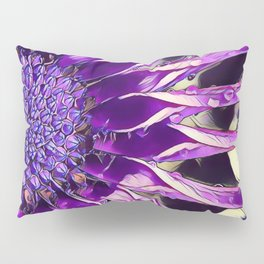 African Daisy in Manipulated Purple Pillow Sham