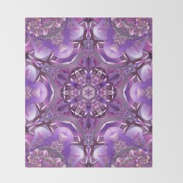 Truth Mandala in Purple, Pink and White Throw Blanket