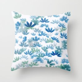 Centaurea Cyanus (Cornflower) Throw Pillow