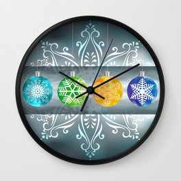 Christmas balls Wall Clock