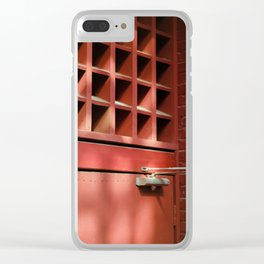 Red Architectural Detail Clear iPhone Case