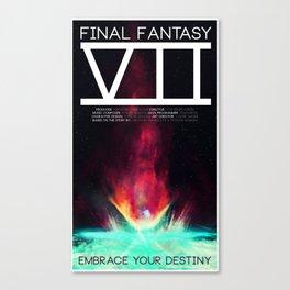 Final Fantasy VII - Destiny Canvas Print