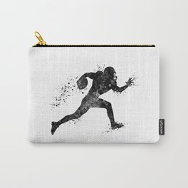 American Football Player Sports Art Football Player Gift Black And White Art Carry-All Pouch