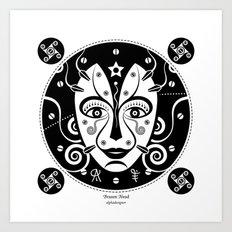 Brazen Head Art Print