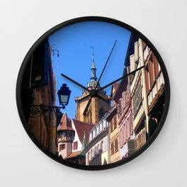 Beautiful Medieval City of Colmar Alsace France  Wall Clock