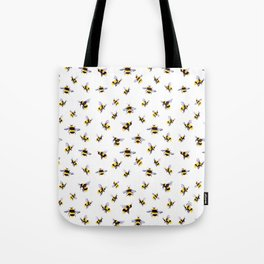 Bumblee Bee Watercolor Pattern Tote Bag