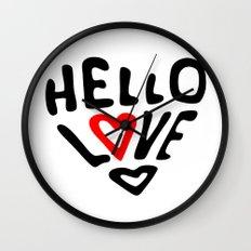 Hello Love Wall Clock